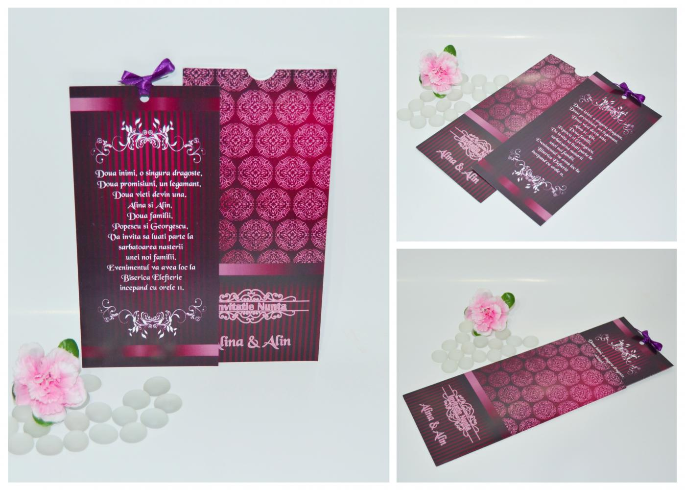 Invitatii nunta, handmade
