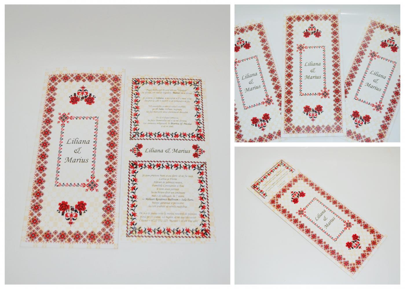 Invitatii nunta traditional romanesti